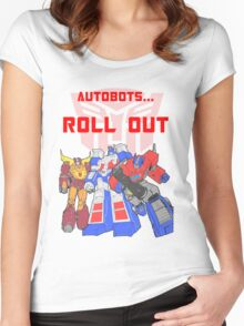 Roll Out Autobots! Women's Fitted Scoop T-Shirt