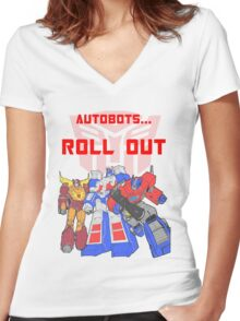 Roll Out Autobots! Women's Fitted V-Neck T-Shirt