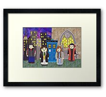 8th Doctor and his companions Framed Print