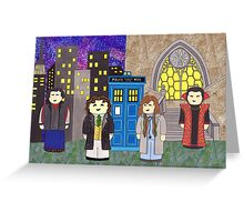 8th Doctor and his companions Greeting Card