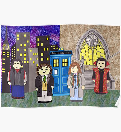 8th Doctor and his companions Poster