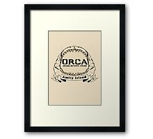 Orca Shark Hunting Tours Framed Print