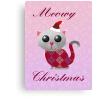 Santa Kitty Canvas Print