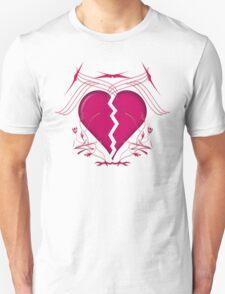 Broken Heart & Tribal Graphics T-Shirt