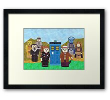 7th Doctor and his companions Framed Print