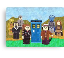 7th Doctor and his companions Canvas Print