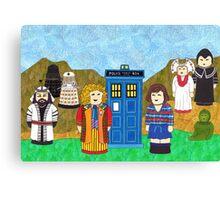 6th Doctor and his companion Peri Canvas Print