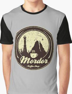 MORDOR COFFEE SHOP Graphic T-Shirt