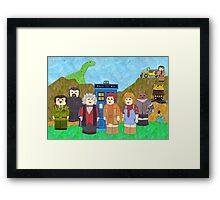 3rd Doctor and his companions Framed Print
