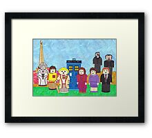 5th Doctor and his companions Framed Print