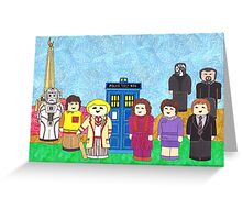 5th Doctor and his companions Greeting Card