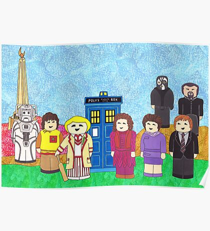 5th Doctor and his companions Poster