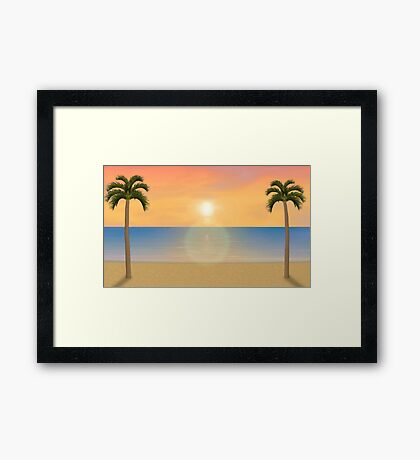 Sunset / Sunrise Beach Scene Framed Print
