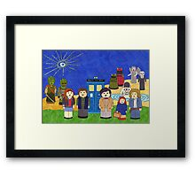 11th Doctor and his companions Framed Print