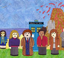 10th Doctor and his companions by HappyDoctors