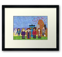 10th Doctor and his companions Framed Print