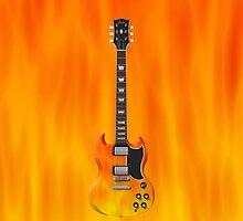 Fire Guitar! by bradyarnold
