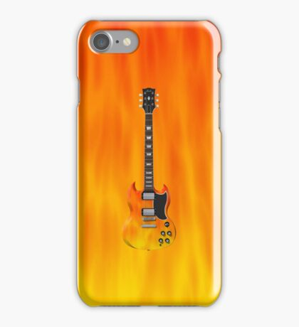 Fire Guitar! iPhone Case/Skin