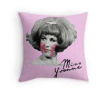 Miss Yvonne Throw Pillow