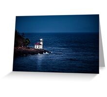 Whale Watch Point Lighthouse Greeting Card