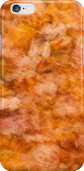 Abstract Autumn Leaves (iPhone/iPod Case) by April Koehler