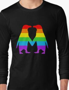 Rainbow penguins in love. Long Sleeve T-Shirt