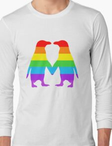 Rainbow penguins in love. Long Sleeve T-Shirt