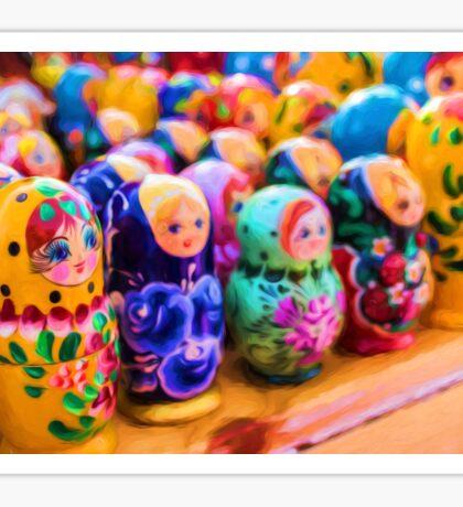 Traditional Russian Matryoshka Nesting Puzzle Dolls Sticker