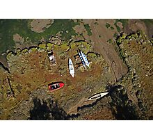 Boats on the Saltmarsh Photographic Print