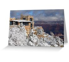 Snowy Lookout Studio at the Grand Canyon Greeting Card