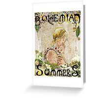 Bohemian Summers Greeting Card