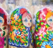 Traditional Russian Matryoshka Nesting Puzzle Dolls Sticker