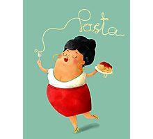Spaghetti Pasta Lady Photographic Print