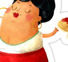 Spaghetti Pasta Lady Sticker