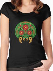 Dia De Los Metroids Women's Fitted Scoop T-Shirt