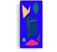 Blue Anime Robot Liquid Economy Dry Wind Canvas Print