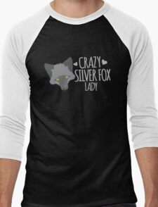 Crazy Silver Fox Lady Men's Baseball ¾ T-Shirt