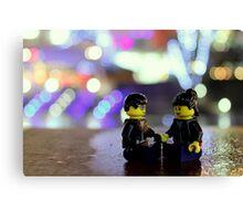 Lego Couple Canvas Print