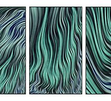 Ocean Currents Triptych by John Edwards