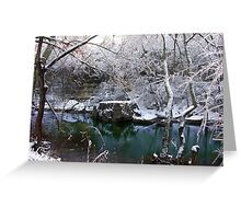 Cherokee Park Big Rock Snow Greeting Card