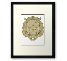 Skulls and Arrows Solid Framed Print