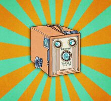 Kodak Box Brownie Illustrated iphone case by Livwan