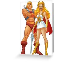 He-Man And She-Ra Greeting Card