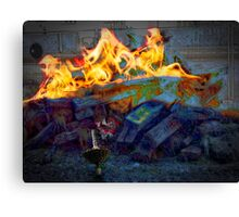 whirligig's joy to be a toy at bonfire Canvas Print