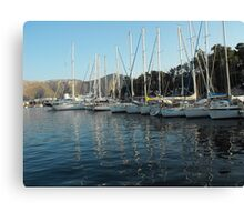 Leros Greek Island Sailboat Harbor Canvas Print