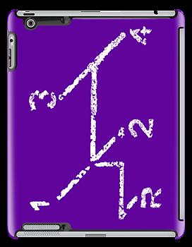 VW iPad case - VW Gear Shift - White on Purple by melodyart