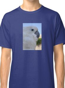 Side Portrait Of A Blue-Eyed Cockatoo Classic T-Shirt