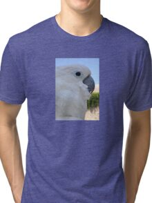 Side Portrait Of A Blue-Eyed Cockatoo Tri-blend T-Shirt