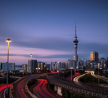 Auckland City at Night  by earlcooknz