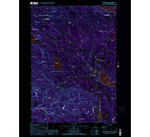 USGS TOPO Map New Hampshire NH Sanbornville 329775 2000 24000 Inverted Photographic Print